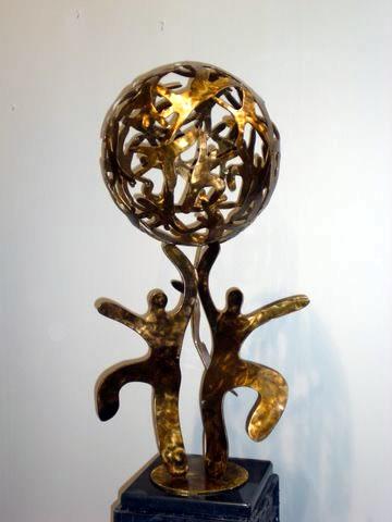 Bronze Human Sphere