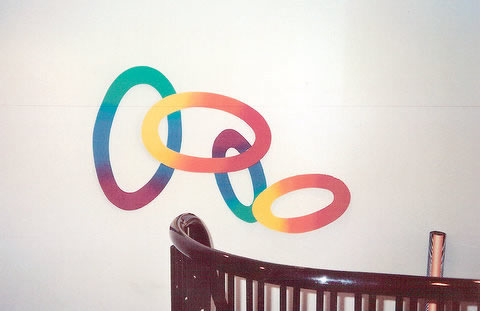 Rainbow Loops Wallsculpture